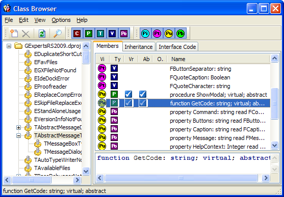 GExperts-class-browser